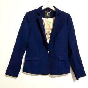 Ted Baker Illij Blue Textured Blazer, Sz 3/US M